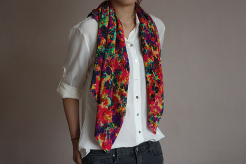 Floral,Explosion,Silk,Scarf,digitally printed digital print scarves silk scarf luxury designer abstract printed crepe de chine 100% silk floral watercolour