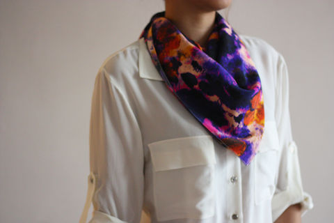 SOLD,OUT,Wild,Soul,Silk,Scarf,digitally printed digital print scarves silk scarf luxury designer abstract printed crepe de chine 100% silk blurred