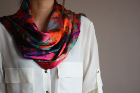 SOLD,OUT,Firework,Silk,Scarf,digitally printed digital print scarves silk scarf luxury designer abstract printed satin 100% silk
