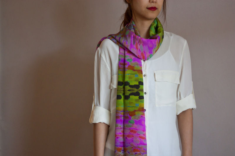 Paint Silk Scarf - product images  of 