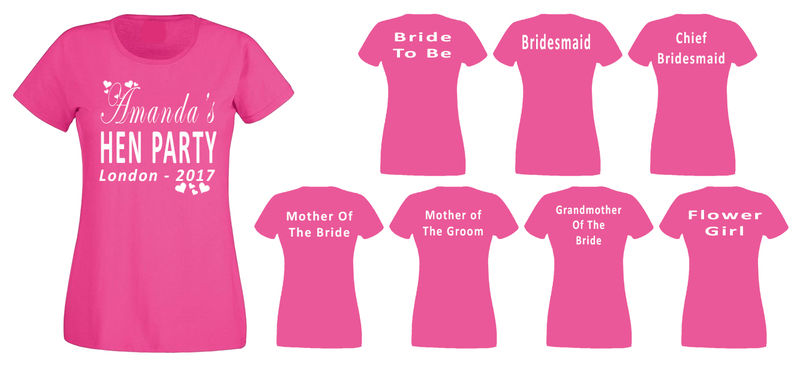 Rmc products for Hen party t shirts