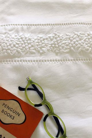 White,Mimosa,hand,embroidered,bedding,collection,in,100%,cotton,sheet, linen, flat sheet, white, bedding, pillow case, duvet, doona