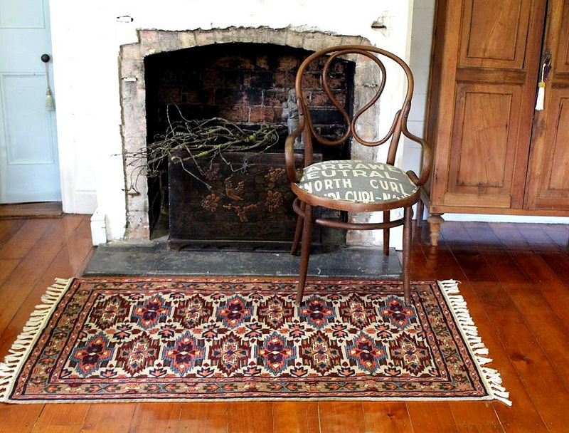 Kashmiri hand embroidered wool rug - tribal medallion - product images  of