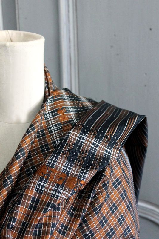 Thai check silk scarf - product images  of 