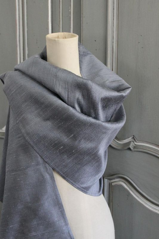 Annabelle silk scarf/stole - product images  of 