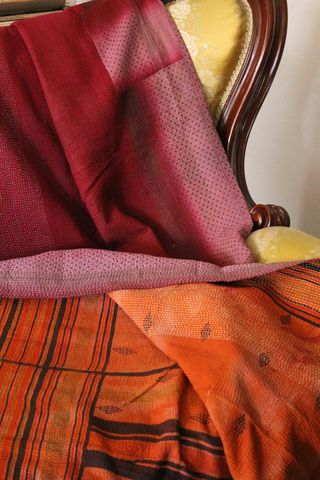 Handstitched,vintage,sari,katha,quilted,throw,-,Banhi,kantha, sari, quilt, vintage, embroidery, textile, ethnic, indian