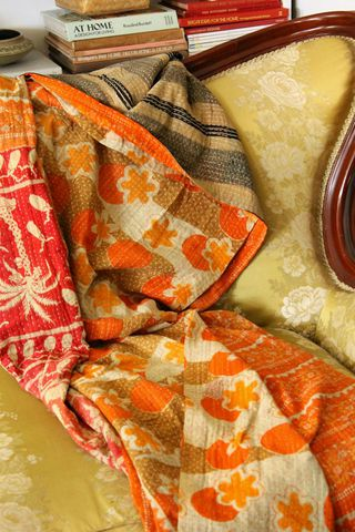 Handstitched,vintage,sari,katha,quilted,throw,-,Fajyaz,kantha, sari, quilt, vintage, embroidery, textile, ethnic, indian