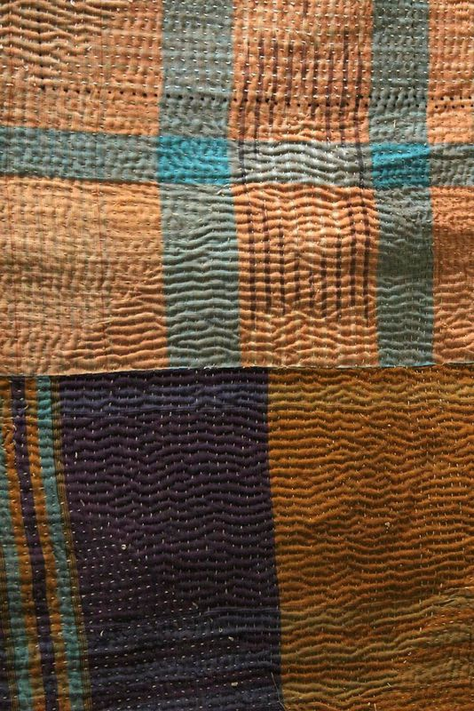"Handstitched vintage sari katha quilted throw - ""Aarna"" - product images  of"