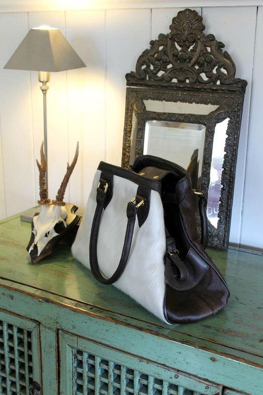 Libby leather and cowhide handbag - product images  of 