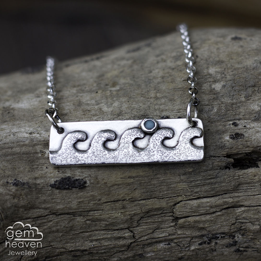 Flowing Shores Bar Necklace - product images  of