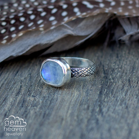 Wish,ring,Jewellery, Ring, Moonstone ring,  stone ring, gemstone ring, hammered ring band, sterling silver ring, silver gemstone ring, uk made, bohemian style, rustic ring, purple gemstone, metalwork ring, gemheaven jewellery, wish ring