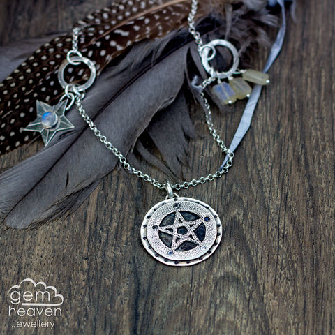 Casting,Magic,Talisman,Moonstone, pendant, necklace, pentacle, talisman, gemstone, boho style, medieval, rustic silver, sterling silver, uk made, cornish jewellery, bohemian style, cornish jeweller, jo tubb, art, design, witch jewellery, gypsy,
