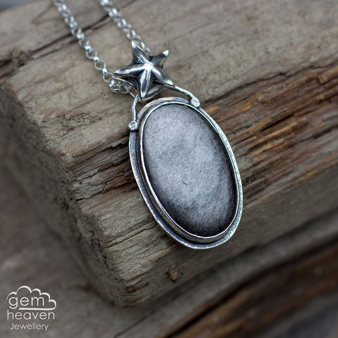 Travel,To,The,Stars, silver sheen obsidian, obsidian, pendant, necklace, star,oval shape, gemstone, boho style, medieval, rustic silver, sterling silver, uk made, cornish jewellery, bohemian style, cornish jeweller, jo tubb, art, design, witch jewellery, gypsy,