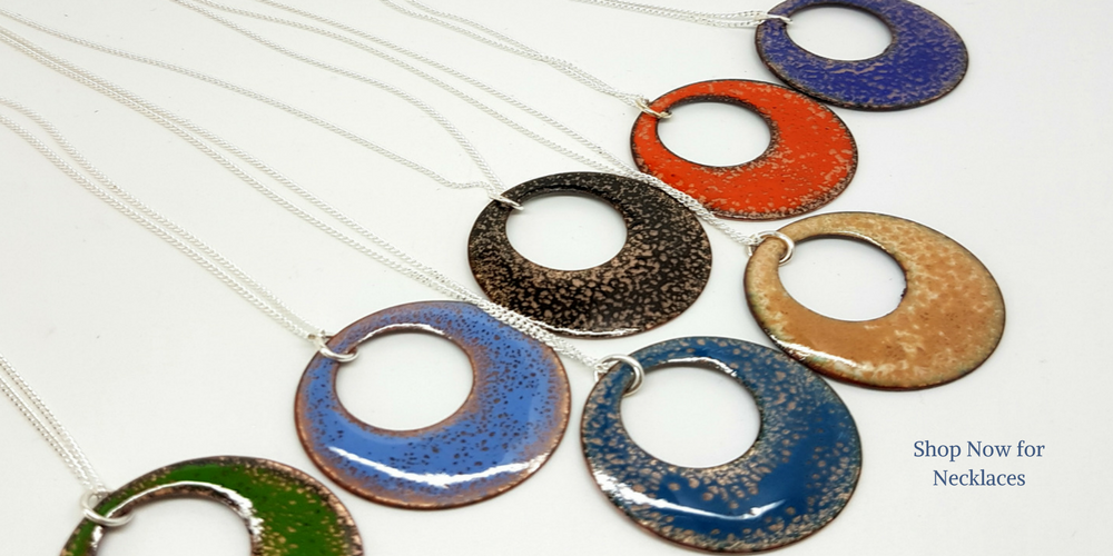 round enamel necklaces