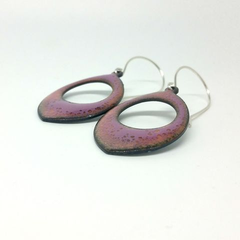 Pink,Boho,Style,Enamel,Earrings,MaisyPlum ,dangly earrings, drop earrings, pink enamel earrings, dangly drop earrings, handmade jewellery, boho jewellery, artisan jewellery
