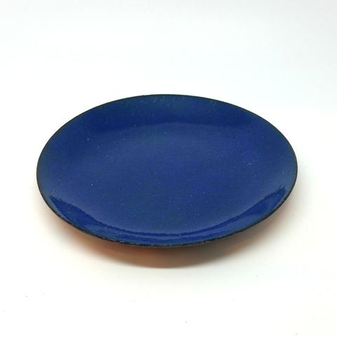 Blue,Enamel,Ring,Dish,enamel bowl, ring dish, ring bowl, trinket dish, tray, flat dish, jewellery storage bowl, cufflink dish, blue bowl,