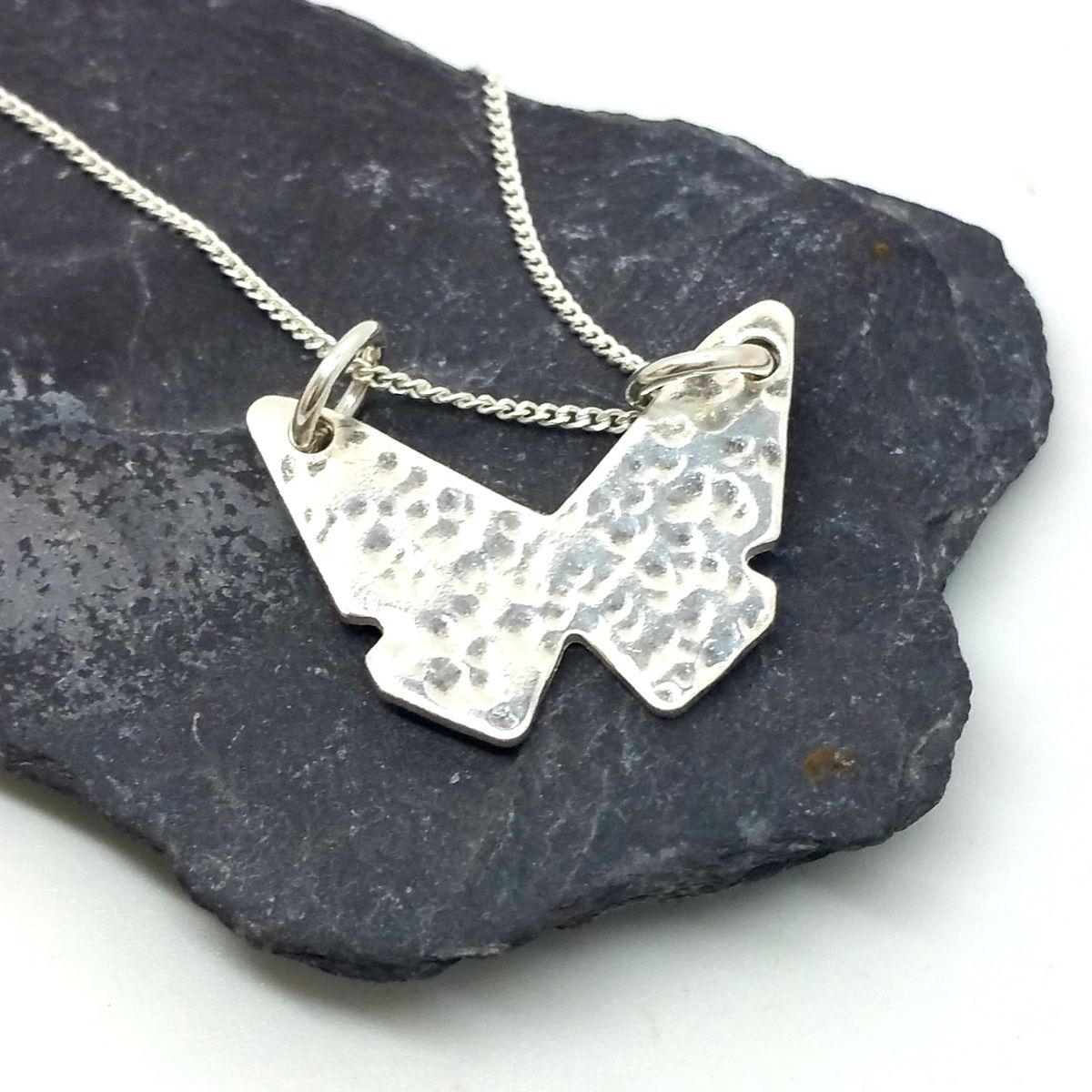 Sterling Silver Butterfly Necklace - product images  of