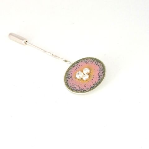 Sterling,Silver,and,Enamel,Disc,Brooch,Pin,enamel brooch, enamel pin, brooch pin, contemporary jewellery, enamel hat pins, enamel jewelry, handmade, enamel stick pin, sterling silver brooch pin