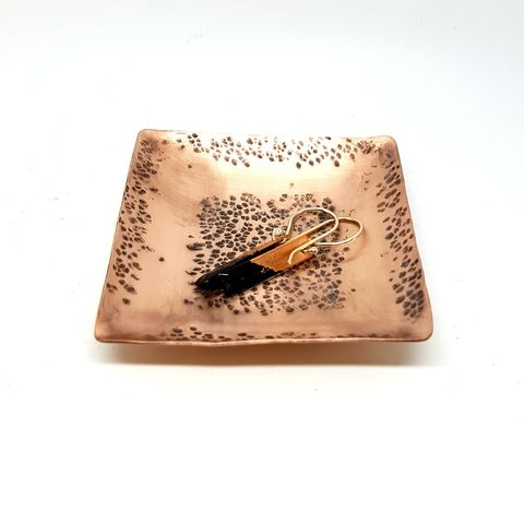 Copper,Ring,Dish,copper dish, copper bowl, trinket dish, trinket tray, copper ring bowl, copper ring dish, 7th wedding anniversary gift, copper anniversary, beaten bowl, hammered dish, square dish, oxidised bowl, aged copper