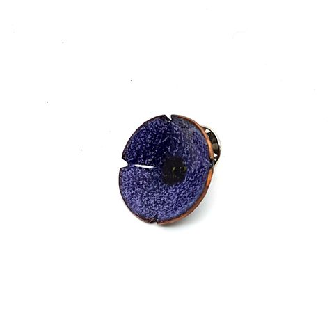 Purple,Enamel,Flower,Brooch,Pin,MaisyPlum, purple, enamel, brooches, enamel pins, purple flower brooch, poppy pin, handmade, colourful brooches, contemporary jewellery, handmade jewellery, flower tie pin,