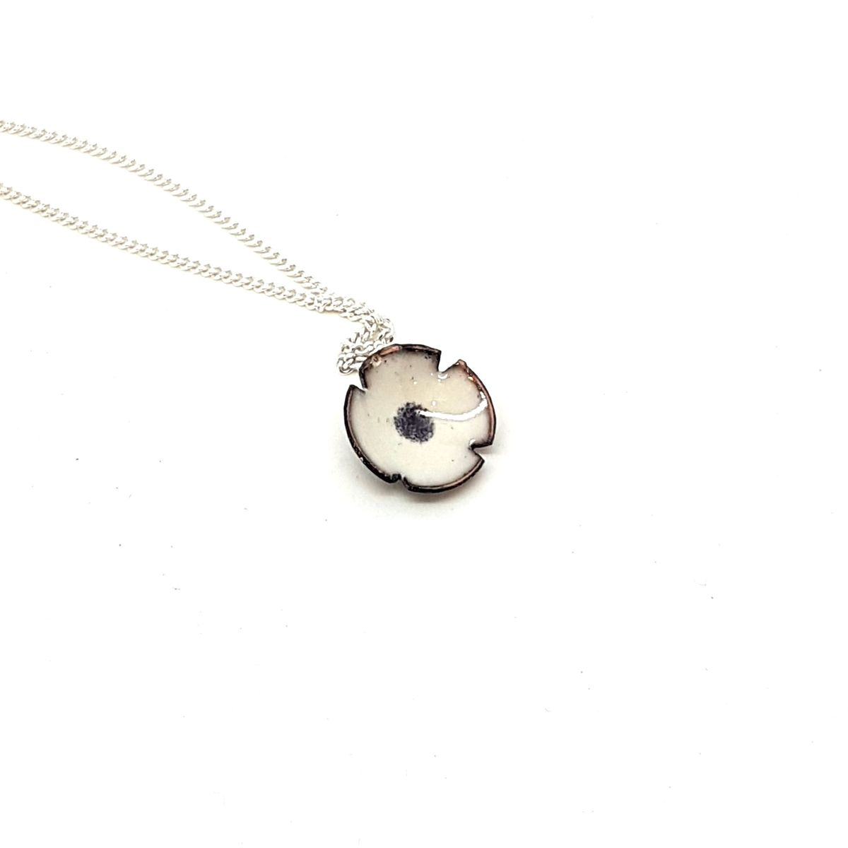 White Poppy Flower Pendant - product images  of