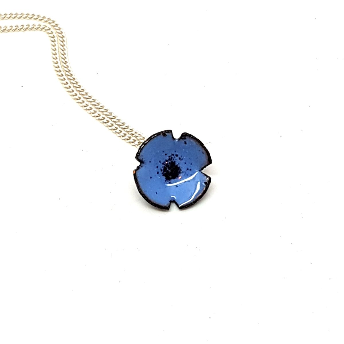 Blue Poppy Flower Pendant - product images  of