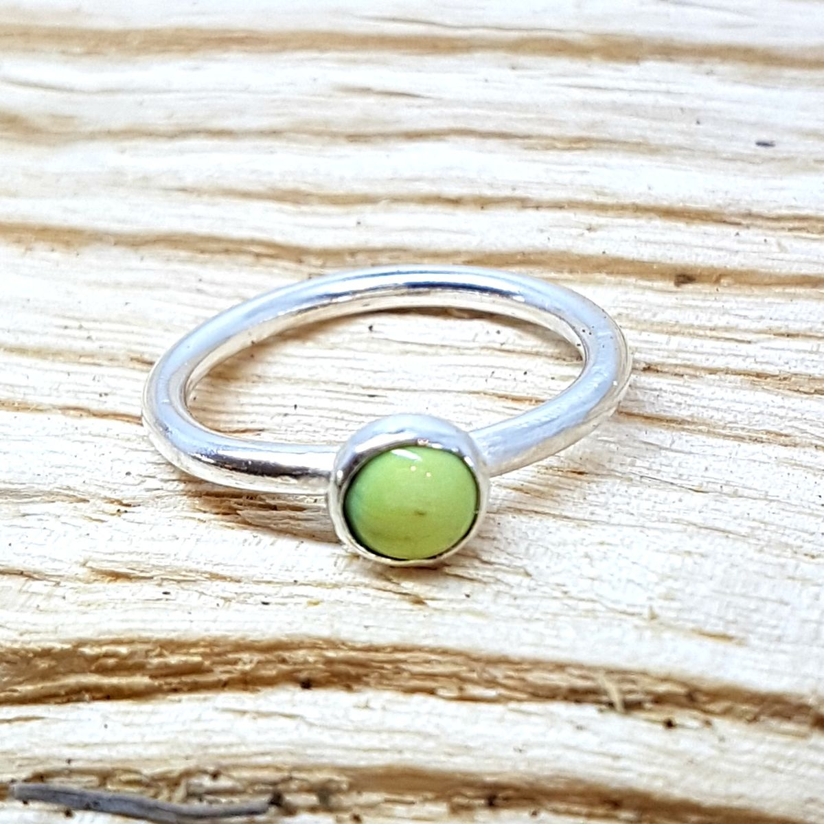 Lime Green Enamel Stacking Ring - product images  of