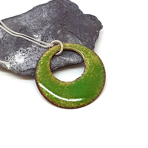 Green,Circle,Enamel,Necklace,circle, green pendant, enamel necklace, emerald round pendant, pendant, necklace, green enamel jewellery, boho necklace