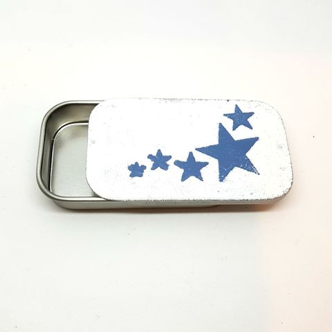 Stars,Enamel,Gift,Tin,enamel, tin, gift tin, storage tin, gift box, sweet tin, stars gift box, packaging, blue tin, jewellery tin, pill box, birthday, sweet tins, aluminium tins