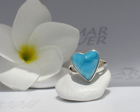 Larimarandsilver,ring,size,6,,Shades,of,Love,2,-,peacock,blue,Larimar,heart,,AAA,Larimar,,turtleback,,Atlantis,stone,,handmade,larimar,Jewelry,Ring,Larimar_ring,Larimar_heart,heart_ring,turtleback,deep_blue_ring,electric_blue,royal_blue,siren_ring,navy_blue,peacock_blue,AAA_Larimar,blue_heart,Atlantis_stone,925 sterling silver,aka Pectolite,aka Atlantis stone,aka Dolphin stone,ak