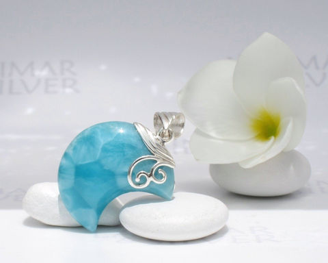 Larimar,moon,by,Larimarandsilver,,Peacock,Moon,-,deep,turquoise,crescent,,cerulean,,blue,moon,,turtleback,,handmade,pendant,Jewelry,Necklace,Larimar_pendant,moon_pendant,larimar_moon,blue_moon,blue_crescent,crescent_moon,quarter_moon,sea_blue,bohemian_blue,turtleback,mermaid_moon,peacock_blue,Larimar_jewelry,925 sterling silver,aka blue pectolite,aka Atlantis stone,aka