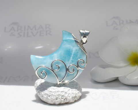 SOLD,OUT,-,Larimar,moon,by,Larimarandsilver,,Selene,in,the,Water,aquamarine,crescent,,sea,blue,,blue,moon,,turquoise,handmade,pendant,Jewelry,Necklace,Larimar_pendant,moon_pendant,larimar_moon,blue_moon,blue_crescent,crescent_moon,quarter_moon,turquoise_moon,sea_blue,cerulean,siren_moon,Larimar_jewelry,925 sterling silver,aka blue pectolite,aka Atlantis stone,aka Dolp