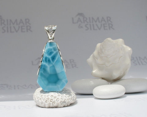 Larimarandsilver,pendant,,Atlantis,Diamond,,sea,blue,Larimar,diamond,,Caribbean,cerulean,,turtleback,,handmade,pendant,Jewelry,Necklace,Larimar_pendant,blue_diamond,larimar_diamond,cerulean,turquoise_pendant,diamond_pendant,mermaid_diamond,Atlantis_stone,turtleback,faceted__Larimar,blue_talisman,larimar_jewelry,larimarandsilver,925 sterling silver,aka Pectolite,ak