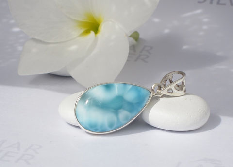 Larimarandsilver,pendant,,Turquoise,Drop,-,sea,blue,Larimar,pear,,ocean,blue,,water,drop,,aquamarine,,turtleback,,handmade,pendant,Jewelry,Necklace,Larimar_pendant,pear_pendant,larimar_pear,sea_drop,ocean_blue,teardrop_pendant,volcanic_blue,turtleback,sapphire_blue,cerulean,sea_blue,mermaid_jewelry,larimar_jewelry,925 sterling silver,aka Pectolite,aka Atlantis stone,aka Dolph