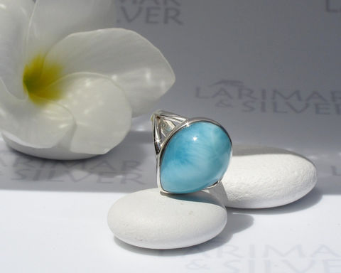 Larimar,stone,ring,size,7.25,,Elvin,Tear,-,iridescent,ice,blue,pear,,sky,blue,,topaz,ring,,water,drop,,handmade,Larimarandsilver, larimar ring, larimar pear ring, sky blue ring, larimar gemstone, azure, crystal blue ring, soft blue gemstone, blue drop ring, blue pectolite ring, frozen ring, water drop ring, topaz blue ring, 925 sterling silver ring, Larimar stone,