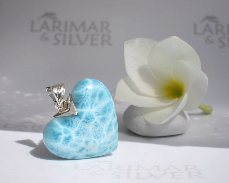 Larimar heart pendant - Heart of an Angel - product images  of