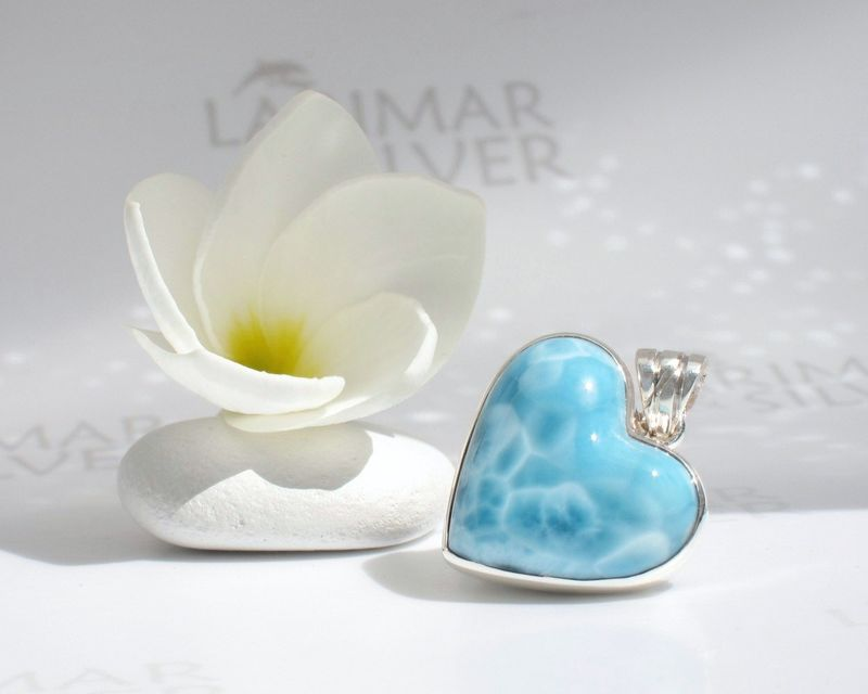 Larimar heart pendant - Love of Water - product images  of
