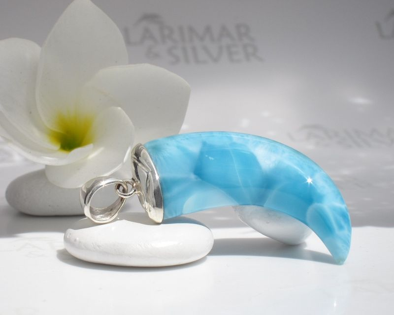 Men Larimar claw pendant - Atlantis Eagle - product images  of