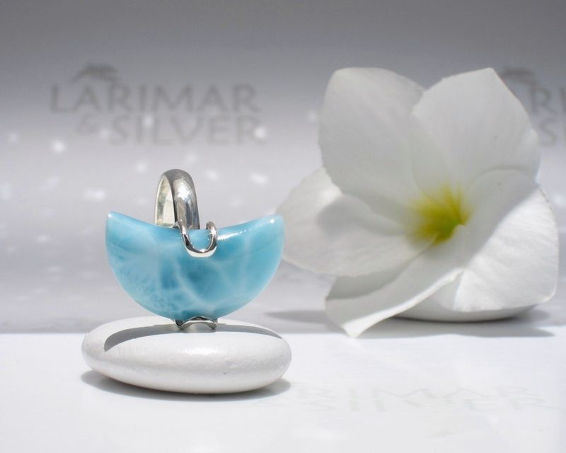 Larimar moon ring size 7.5 - Isis Moon  - product images  of