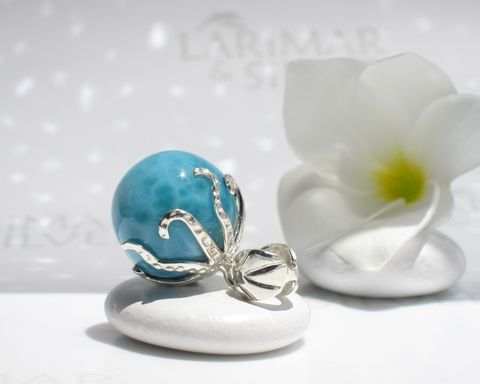 AAA,Larimar,octopus,pendant,-,Guardian,of,the,Abyss,Larimar pendant, Larimar pearl pendant, larimar ball, larimar sphere, octopus pendant, octopus Larimar pendant, silver octopus pendant, octopus necklace, octopus world, atlantis stone pendant, blue pectolite pendant, Larimar stone jewelry, larimar