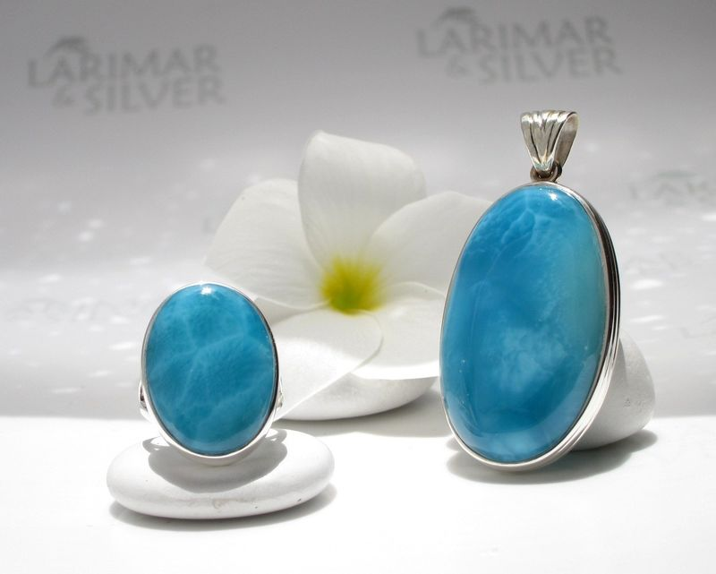 Sold Out Aaaa Larimar Jewelry Set Goddess Of The Abyss
