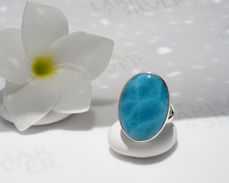 AAAA Larimar jewelry set - Goddess of the Abyss – Authentic Dominican Larimar Jewelry  - product images  of