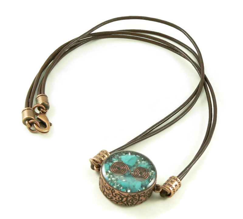 Orgone energy mens necklace unisex necklace double for Mens jewelry stores near me