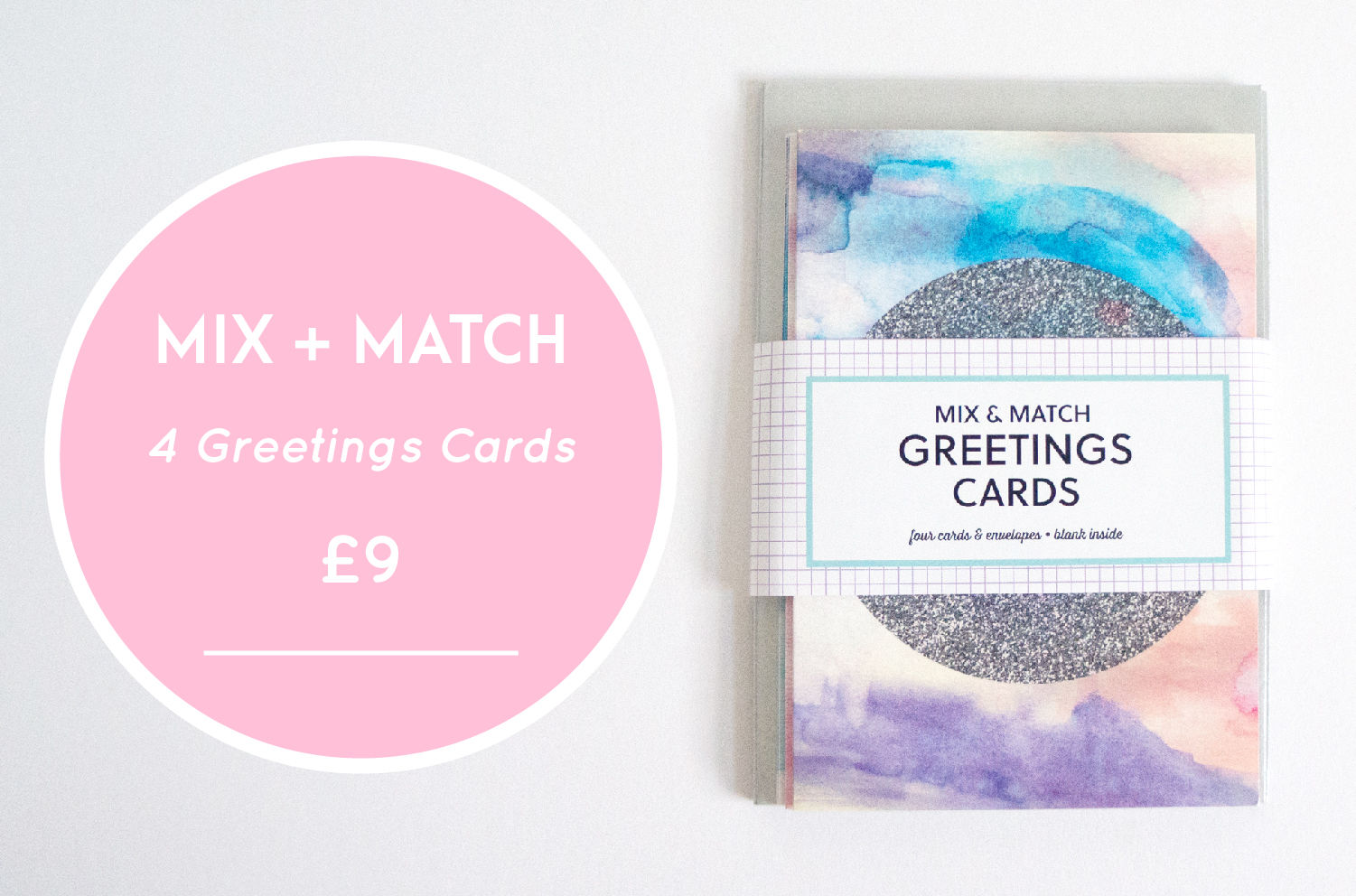 modern greetings card, notecards