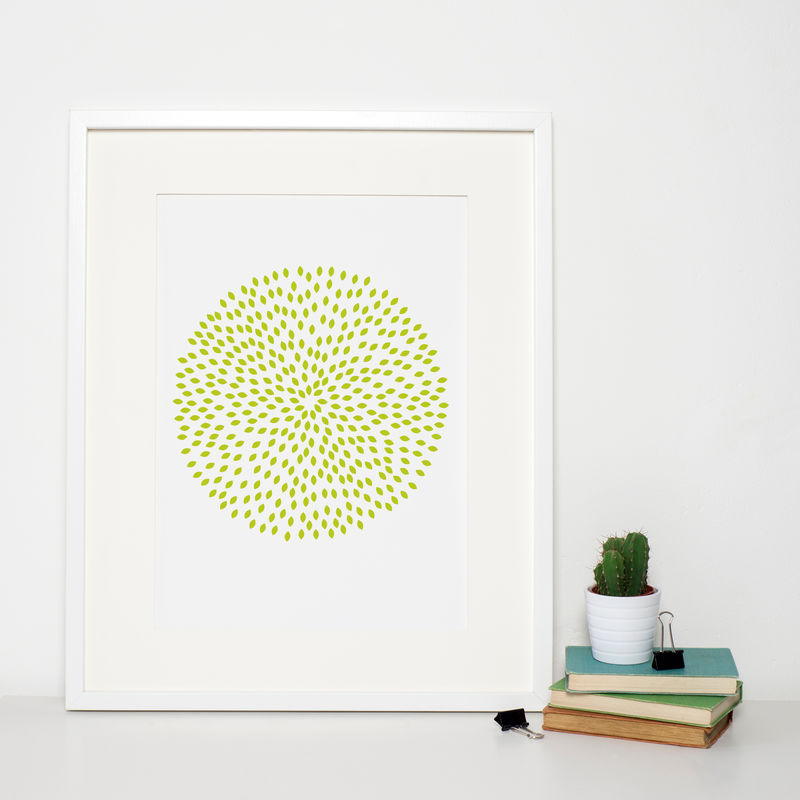 Modern Green Pattern Print - product images
