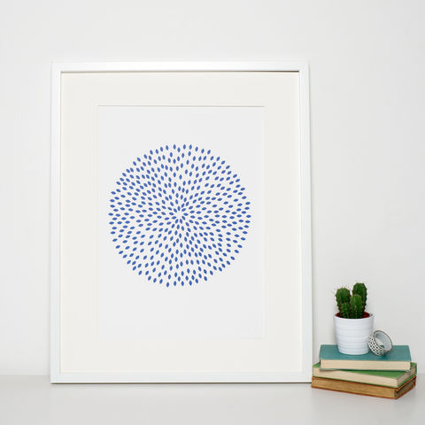 Minimalist,Navy,Blue,Circle,Print,navy blue art print, pattern print, surface pattern, geometric art print, circle print, reduced art