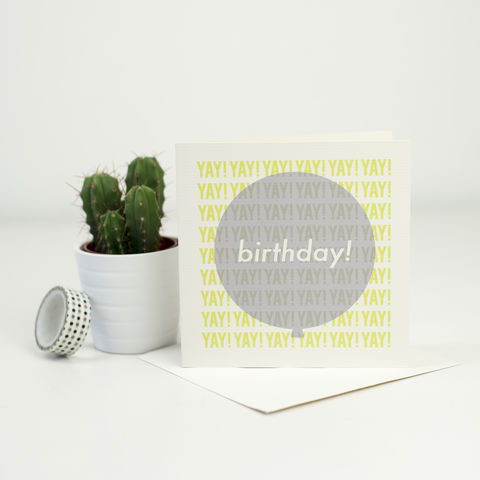 Modern,Birthday,Balloon,Card,-,Green,+,Grey,birthday card, modern birthday card