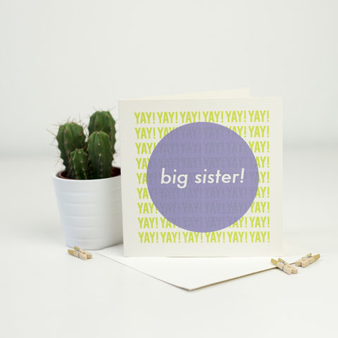 New,Baby,Card,for,a,Big,Sister!,card for new sibling, big sister card, new baby card