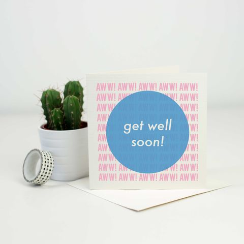 Modern,Aww!,Get,Well,Soon,Card,modern get well soon card