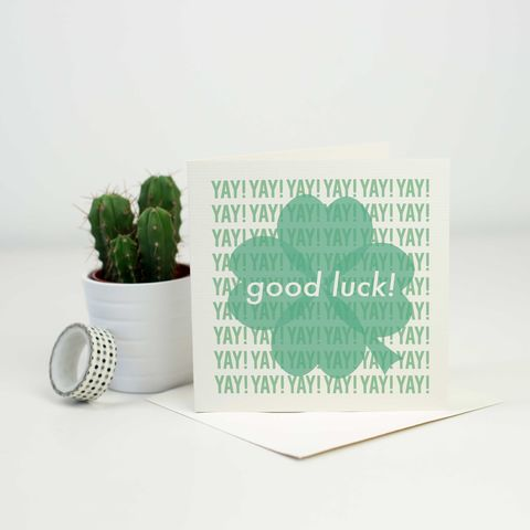 Modern,Good,Luck,Card,Modern Good Luck Card, good luck card, leaving card, exam card, greetings card
